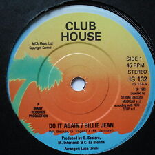 "CLUB HOUSE - Do It Again / Billie Jean - Excellent Con 7"" Single Island IS 132"
