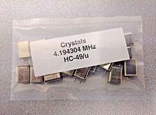 20 pcs 4.194304 MHz Crystal Oscillator HC-49/u USA Seller