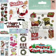 Christmas 💜 Scrapbook Stickers Crafts XMAS Jolee's Soft Spoken U Choose
