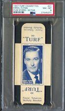 1947 TURF Cigarettes Card w/ Tab #21 ERROL FLYNN Actor ROBIN HOOD Rare!! PSA 8