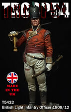 Troop54 Napoleonic British Light Infantry Officer 1808 54mm Unpainted kit