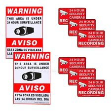 8 CCTV Security Camera Video Warning Sticker Sign Decal Home Surveillance bsd