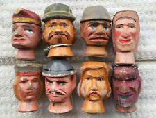 Kasperle Marionetten geschnitzte Köpfe um 1910