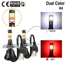 2x 80W LED Driving Fog Light Bulb H4 HB2 9003 Hi/Lo Beam Dual Color White & Red