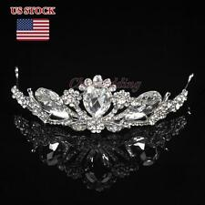 Luxurious Jeweled Crystal Rhinestone Tiara Bridal Prom Party Crown w/ Hair Comb