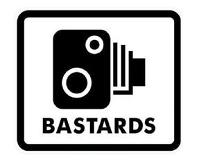 speed camera b*stards funny car van decal sticker window speeding 132