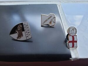 derby county football pin badges set