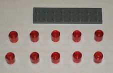 LEGO NEW 1x1 Transparent Red Round Brick (10x) 3006841 6238673 Brick 30068