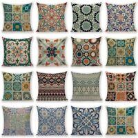 Retro Bohemian Flower Boho Throw Pillow Cover Sofa Cushion Pillowcase Home Decor