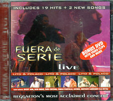 LITO Y POLACO - FUERA DE SERIE LIVE CD+DVD - NICKY JAM,DON OMAR, CHEZINA CD/DVD