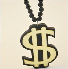Awesome Dollar Sign Statement Acrylic Necklace Gangster Boss Valentines Gift