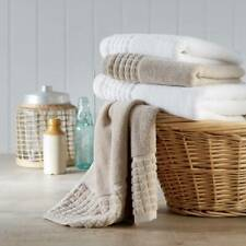 Combed Cotton Towels SPA Sheared Border 100% Pure Cotton 550gsm Linen