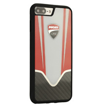 Ducati Corse D4 Genuine Carbon Fiber Case Cover White iPhone 7 Plus, 8 Plus