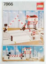 Lego vintage 7866 classic train Level Crossing - INSTRUCTIONS ONLY - 1985