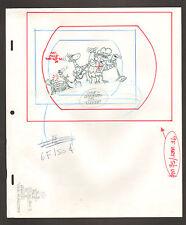 "Flintstones Animation Art - ""Rock Rockstone"" Barney + Dino On Stage Scene 3"