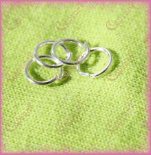 100 ANELLINI COLOR ARGENTO CHIARO 8 mm anellino APRIBILI MINUTERIA BIGIOTTERIA