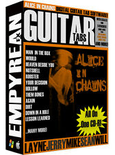 Alice In Chains Guitar Tabs CD-R Digital Lessons Software Jerry Cantrell Win Mac