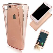 360 Front and Back Full Coverage Gel Case Cover For iPhone 7 Plus Rose Gold