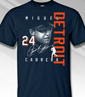Detroit Tigers T Shirt Miguel Cabrera Signature New Best Gift For Fan Halloween