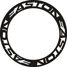 EASTON Ouline Carbon Bike/Cycling/Cycle/Push Bike Wheel Decal Sticker Kit 2 RIMS