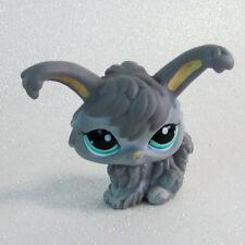 Littlest Pet Shop LPS #993 Gray Angora Bunny Rabbit Blue Eyes