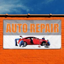 Vinyl Banner Sign Auto Repair #3 Automotive Outdoor Marketing Advertising White