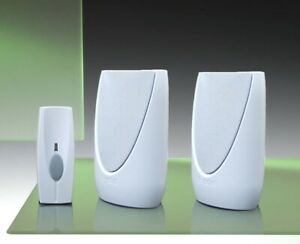 Byron 100m Twin Portable Wireless Door Chime Kit.
