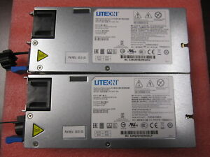 Lot of 2 PS-2501-8Q LiteOn 500W Watt Switching PSU for Quanta D51B-1U