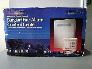 SAFE HOUSE 8 ZONE BURGLAR / FIRE ALARM CONTROL CENTER W/ KEYPAD - CAT NO. 49-485