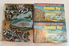 Lot of 2 Invasion Day 1960s Marx Miniature Play set in Original Boxes Vintage