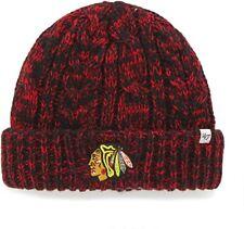 NWT '47 NHL Women's Prima Cuff Knit Hat Pom Pom Winter Beanie Chicago Blackhawks
