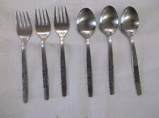 """3 teaspoons, 3 Salad/Dessert Forks  Amefa ROYAL DAMASK Holland Stainless 5 3/4"""""""