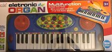 Electronic organ keyboard with microphone multifunction imaginative play