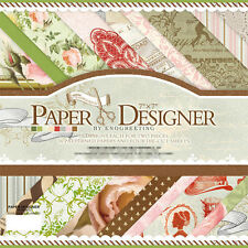 """40 Sheets 7"""" Craft Paper Pad Cardstock Pad Photo Background Decorative Paper 015"""