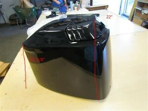 MERCURY QUICKSILVER COWLING 75 HP MOTOR HOOD 4026-828354T6 BLACK MARINE BOAT