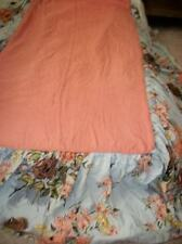 Chic Shabby Vintage 30s Barkcloth Bedspread Shams Handmade Twin Cottage