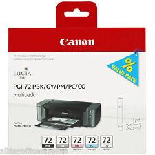 GENUINE CANON PGI-72 PBK/GY/PM/PC/CO MULTIPACK 5 INK CART PIXMA PRO-10S