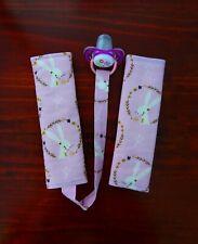 Bunny - Baby Kids Seat Belt Strap Covers for Pram Stroller Car Seat dummy holder