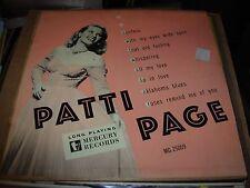 """PATTI PAGE self titled ( jazz ) - mercury 25059 - 10"""" - 1950 -"""