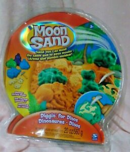New Sealed MOON SAND You Can Mold Diggin' For Dinos Dinosaures 2008