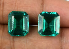 Loose Gemstone Zambian Emerald Pair 100% Natural 10-12 Ct Octagon AGSL Certified