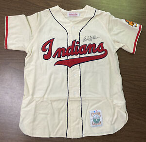 High-Quality Bob Feller Autographed Mitchell & Ness Flannel Jersey Indians HOF