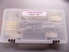 MOLEX CONNECTOR KIT, STANDARD .093, 40 CONNECTORS, 80 MALE, 80 FEMALE CRIMP PINS