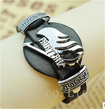 Anime Fairy Tail PU Leather Bracelet Wristband Watch Style Cosplay Props