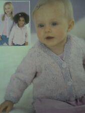 Sirdar Snuggly DK Knitting Pattern * Children's Cardigans  - NB to 5 - 6 yrs