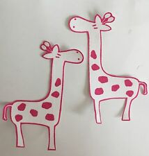 Pink and White Giraffes  - Iron On Fabric Appliques