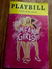 Mean Girls Broadway Playbill - May 2018 At The August Wilson Theatre - Tina Fey