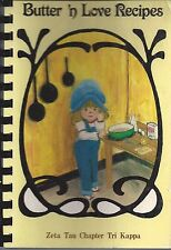 *CLAYTON IN 1982 TRI KAPPA COOK BOOK *BUTTER N LOVE RECIPES *INDIANA COMMUNITY