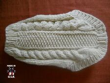 Off-white Irish knit style sweater for dogs-size XS-handknit in USA