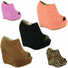 Unbranded Casual Wedge Peep Toe Shoes for Women